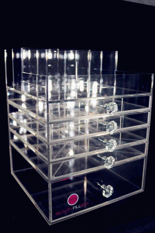 MS-AD009/wholesale acrylic makeup organizer with drawers